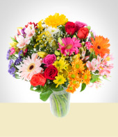 Flores :  - Bouquet Mixto